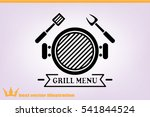 barbecue icon vector... | Shutterstock .eps vector #541844524