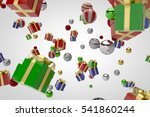 multiple colorful 3d gift boxes ... | Shutterstock . vector #541860244