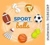 set of colorful sport balls at... | Shutterstock .eps vector #541861069