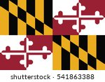 maryland state flag  usa.... | Shutterstock .eps vector #541863388