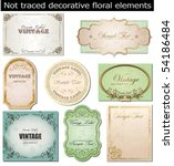 vector set  vintage labels | Shutterstock .eps vector #54186484