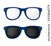 hipster blue color glasses and... | Shutterstock .eps vector #541866079