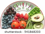 diet concept  bathroom scales... | Shutterstock . vector #541868203