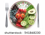 diet concept  bathroom scales... | Shutterstock . vector #541868230