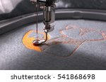 embroidery with embroidery... | Shutterstock . vector #541868698