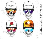 set skulls. vector illustration | Shutterstock .eps vector #541874188