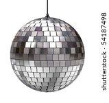 Disco Ball Isolated On White...