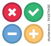 button for site. signs plus ... | Shutterstock .eps vector #541875430