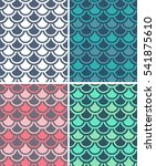 set of multicolored texture... | Shutterstock .eps vector #541875610