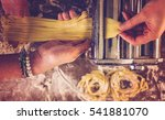 preparing home made pasta with... | Shutterstock . vector #541881070