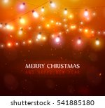 colourful glowing red christmas ... | Shutterstock .eps vector #541885180
