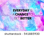 fitness motivation quotes | Shutterstock . vector #541885930