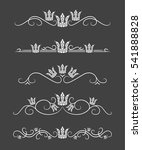 vector text dividers with crown | Shutterstock .eps vector #541888828
