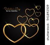 valentine's day heart symbol... | Shutterstock .eps vector #541892509