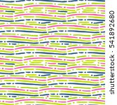 seamless pattern with waves.... | Shutterstock .eps vector #541892680