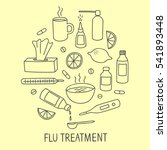 flu and cold treatment doodle... | Shutterstock .eps vector #541893448