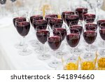 glasses with white and red wine ... | Shutterstock . vector #541894660
