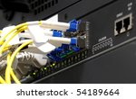 back side of switch with fiber... | Shutterstock . vector #54189664