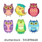 cute vector collection of... | Shutterstock .eps vector #541898668