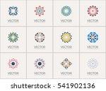 geometric logo template set.... | Shutterstock .eps vector #541902136