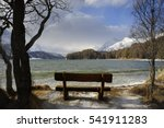 Lonely Wooden Bench Looking...