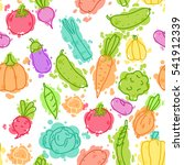 vegetables on color pseudo... | Shutterstock . vector #541912339