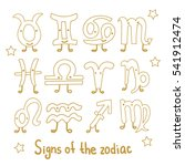 set signs of the zodiac.... | Shutterstock . vector #541912474