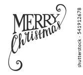 hand written calligraphic... | Shutterstock . vector #541912678