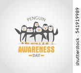 penguin awareness day vector... | Shutterstock .eps vector #541919989