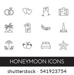 set of thin line icons with...