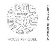 house remodel horizontal banner....   Shutterstock .eps vector #541923844