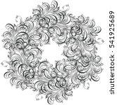 beautiful circular pattern of... | Shutterstock .eps vector #541925689