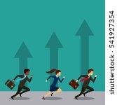 businessmen and women running... | Shutterstock .eps vector #541927354