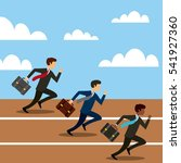 businessmen running on... | Shutterstock .eps vector #541927360