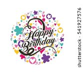 happy birthday card with... | Shutterstock .eps vector #541927576