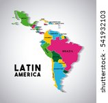 Map Of Latin America With The...