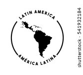silhouette of latin america map ... | Shutterstock .eps vector #541932184