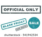 official only rubber seal stamp ... | Shutterstock .eps vector #541942534