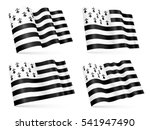 vector 3d breton waving flags... | Shutterstock .eps vector #541947490