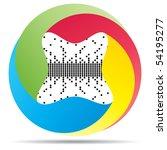 raster image of vector  pixel... | Shutterstock . vector #54195277