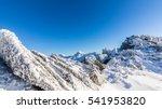 Bright Winter Scenery In The...