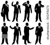 businessman  different... | Shutterstock .eps vector #54195673