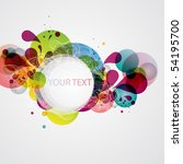 colorful banner | Shutterstock .eps vector #54195700