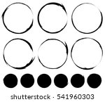 circular painted circles.... | Shutterstock .eps vector #541960303