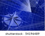 the compass. vector template. | Shutterstock .eps vector #54196489