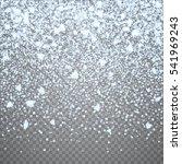isolated christmas falling... | Shutterstock .eps vector #541969243