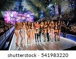 models walk in the victoria's... | Shutterstock . vector #541983220