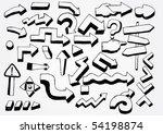 many doodled arrows | Shutterstock .eps vector #54198874
