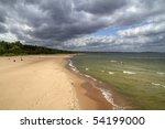 Baltic sea beach in Gdansk - Poland - stock photo