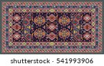 colorful oriental mosaic rug... | Shutterstock .eps vector #541993906